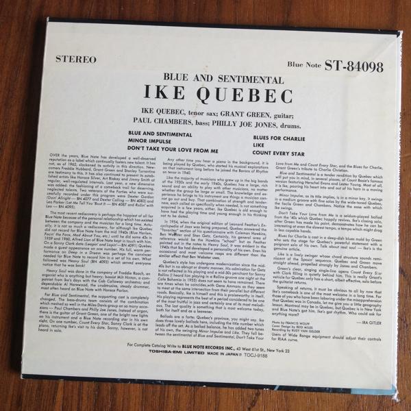 アイク ケベック CD blue and sentimental ike quebec_画像2