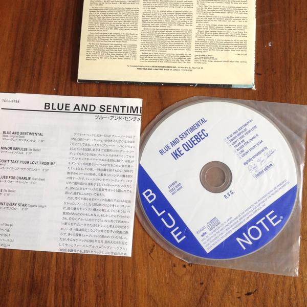 アイク ケベック CD blue and sentimental ike quebec_画像3