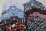 LS913◆UNIQLOユニクロ メンズシャツ/半袖/長袖/7分袖/サイズL-XL/10枚セット/福袋/まとめ売り/古着卸し