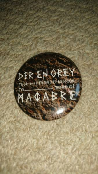 ディル・アン・グレイ 「 mode of MACABRE」 バッチ 缶バッジ 新品未使用 Dir en grey ライブグッズの画像