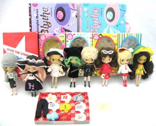 TAKARA タカラ プチブライス 人形 ドール 8体まとめて POP-UP World ポップアップ 絵本2冊 4YSI-056AD