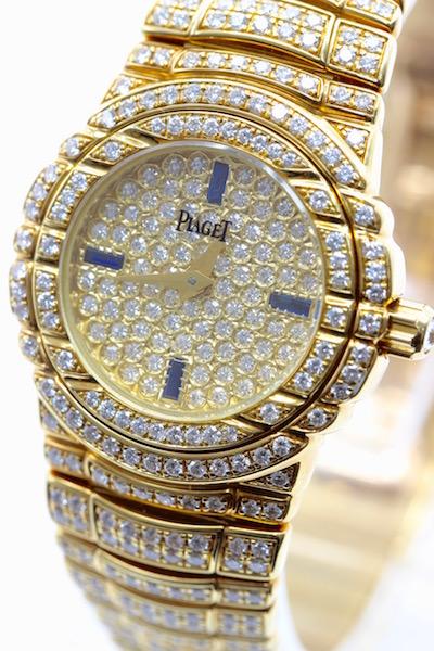 極美品■PIAGET ピアジェ タナグラ 全面ダイヤ 750 イエローゴールド レディース腕時計 クォーツ 定価約1400万円_画像1