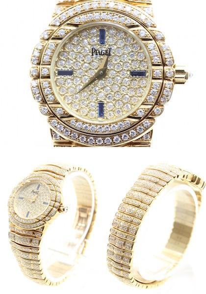 極美品■PIAGET ピアジェ タナグラ 全面ダイヤ 750 イエローゴールド レディース腕時計 クォーツ 定価約1400万円_画像2