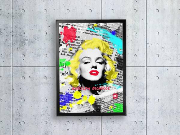 ポップアート マリリンモンロー 額縁付き A4サイズ グッズの画像