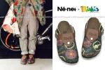 Ne-net ネネット × ビルケンシュトック Birki's コラボ スノーノーム柄 サンダル 38 24.5cm / ボストン ベルリン