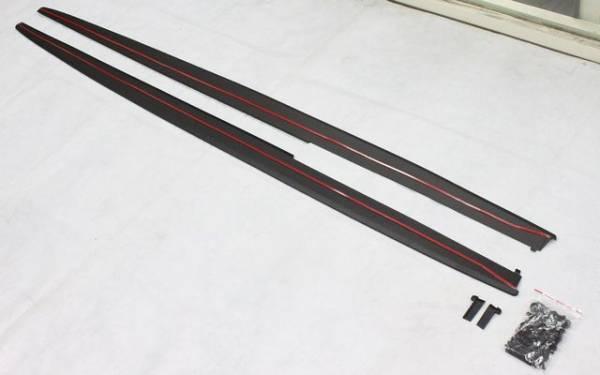 汎用ハイグレードサイドスポイラーtype1 ローダウン エアロ バンパー 加工 カナード ディフューザー ステップ モール ガード プロテクター_画像2