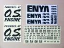 ◆昔のエンジンメーカーのデカールをまとめて ENYAとOS◆エンヤ、小川精機◆当時物