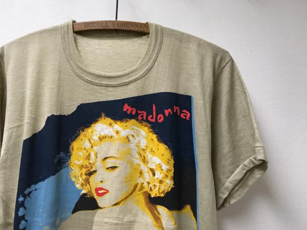 90s madonna マドンナ ロック バンドT Tシャツ ビンテージ 50/50 綿ポリ コットン ポリエステル 古着女子 ライブグッズの画像