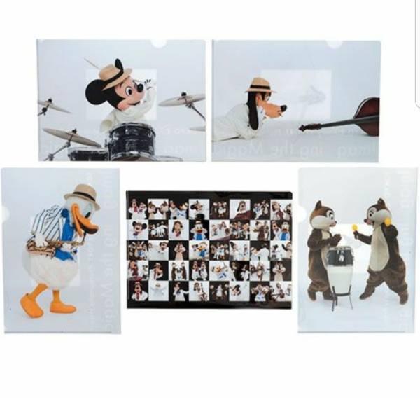 イマジニング クリアホルダー 5枚セット 新品 ディズニー ミッキー ドナルド チップ デール グーフィー クリアファイル 夏祭り パイレーツ ディズニーグッズの画像