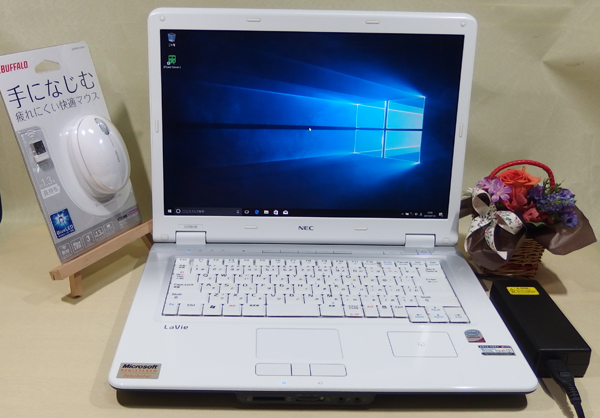 ● 日本電気 NEC LaVie L LL750/M PC-LL750MG Core 2 Duo 2GB 160GB ホワイト 白 Windows 10 搭載 ! おまけつき♪