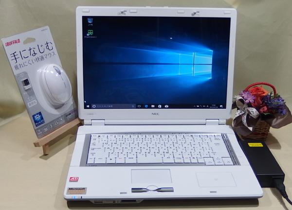◆ 日本電気 NEC LaVie L LL550/K PC-LL550KG 2GB 320GB ホワイト 白 Windows 10 搭載 ! おまけつき♪