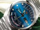 ビンテージ オリエント■万年カレンダー 自動巻き■メンズ腕時計 箱つき