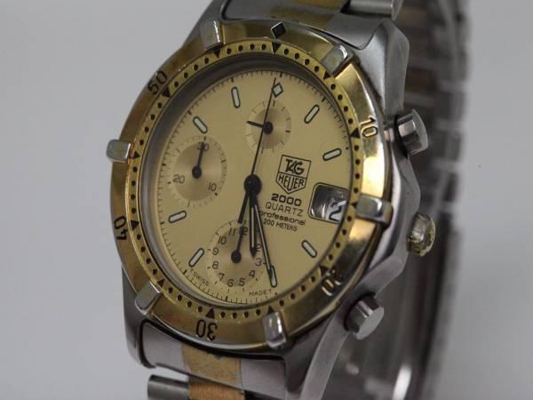 可動品【タグホイヤー】264.006/1 2000シリーズ  クロノグラフ 200M スイス製 コンビカラー クォーツ メンズ腕時計 V334