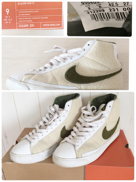 timeless design 0ac0b bd074 27cm NIKE BLAZER MID 73 sneakers Stussy collaboration is ...