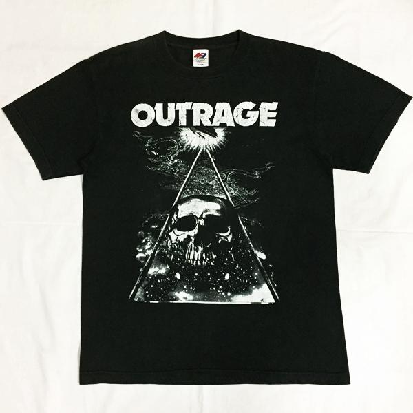 ネコポス! OUTRAGE アウトレイジ ライブTシャツ JAPAN TOUR 2010 RISE FINAL LIVE AT CLUB CITTA' ,KAWASAKI