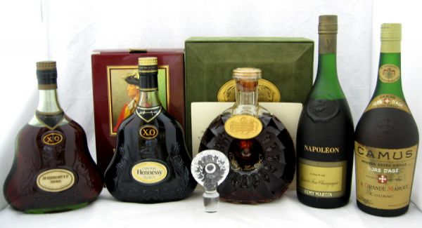 JAs HENNESSY XO/CAMUS HORS DAGE RESERVE EXTRA VIEILLE/Hennessy XO/REMY MARTIN NAPOL
