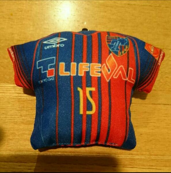 FC東京 ミニクッションキーホルダー No.15 永井選手 グッズの画像