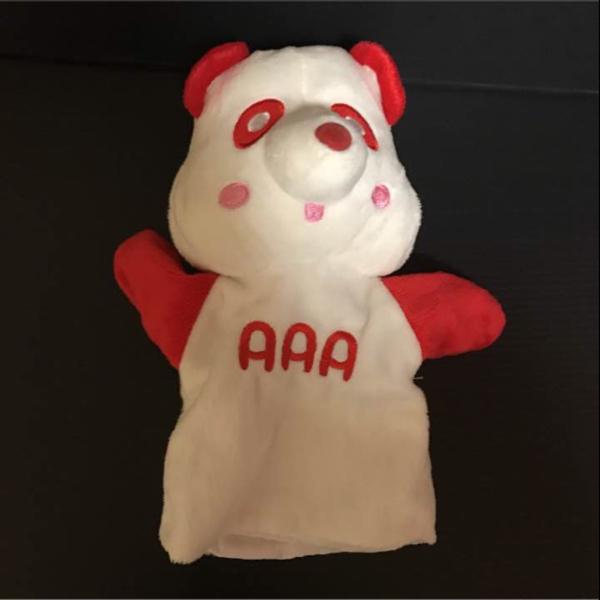 AAA え~パンダ パペット 赤 伊藤千晃 ぬいぐるみ グッズ えーパンダ_画像1
