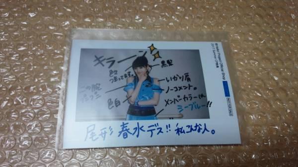 尾形春水 ハロショ2017SUMMERキャンペーン インスタント素材L判写真