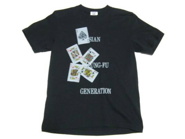 美品 ASIAN KUNG-FU GENERATION アジカン トランプTシャツ 黒 Sサイズ ライブグッズの画像