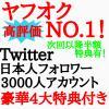 Other - 属性指定可 Twitter 日本人フォロワー 3千人アカウント 半額特典有 ヤフオクNO.1