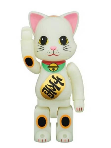 NY@BRICK 招き猫 蓄光 400% ニャーブリック ニャブリック スカイツリー・ソラマチ店限定 メディコムトイ ベアブリック BE@RBRICK_画像1