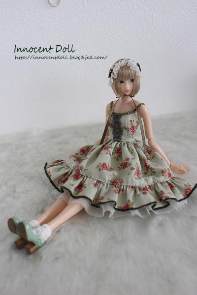 """1/6 scale doll dress"""" pastel green OP"""""""