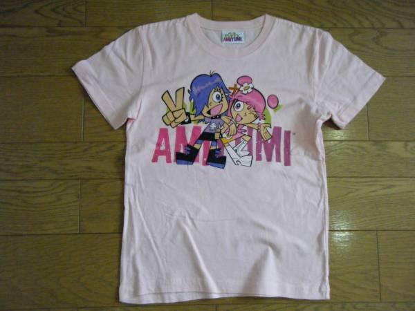 PUFFYパフィー■プリントTシャツ■ピンク■Hi Hi PUFFY AMI YUMIアニメ■子供用キッズ140■