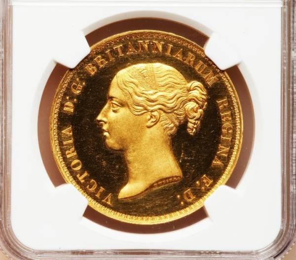 英国1839年 ヴィクトリア女王 記念金貨 ウナライオン PF63ULTRA CAMEO
