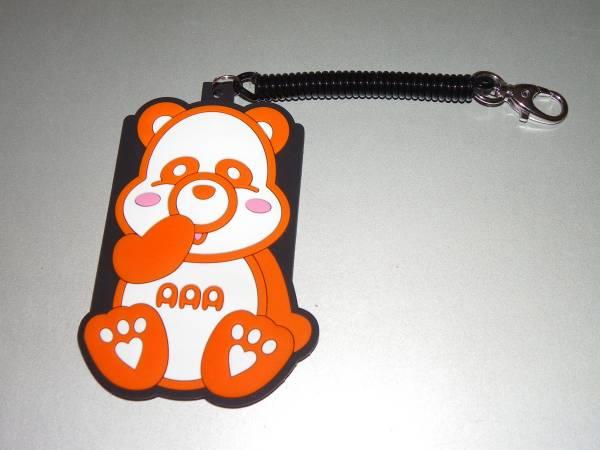 AAA え~パンダ ラバーパスケース オレンジ/西島隆弘 avex 定期入れ ライブグッズの画像