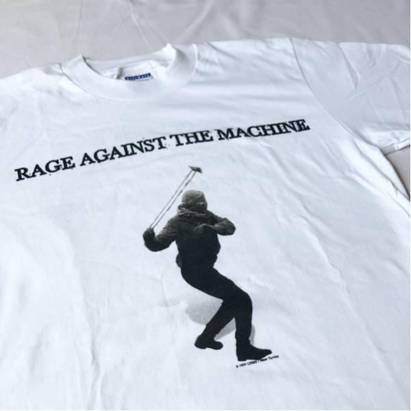 デッドストック! 99年 RAGE AGAINST THE MACHINE Tシャツ カナダ製 ビンテージ 90s レイジアゲインストザマシーン ミクスチャー ロック
