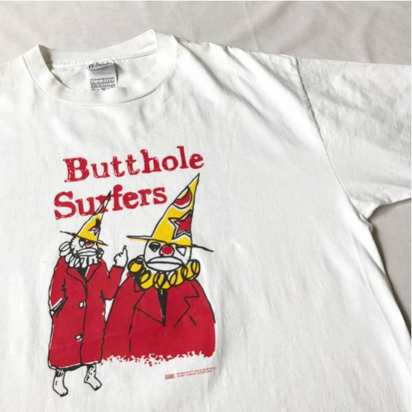96年 BUTTHOLE SURFERS Tシャツ XL NICE MAN USA製 ビンテージ 90年代 オリジナル バットホールサーファーズ オルタナティヴ ロック バンド
