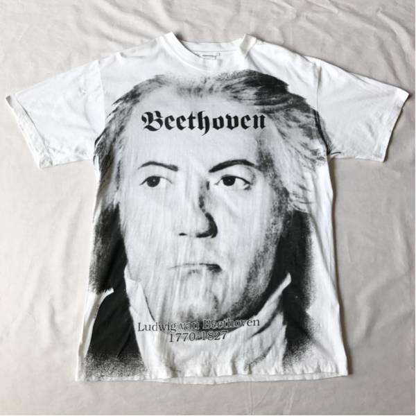 92年 バッハ Tシャツ XL USA製 ビンテージ 90s 90年代 音楽家 ベートーベン マリリンモンロー ダリ アンディウォーホル エッシャー ピカソ グッズの画像