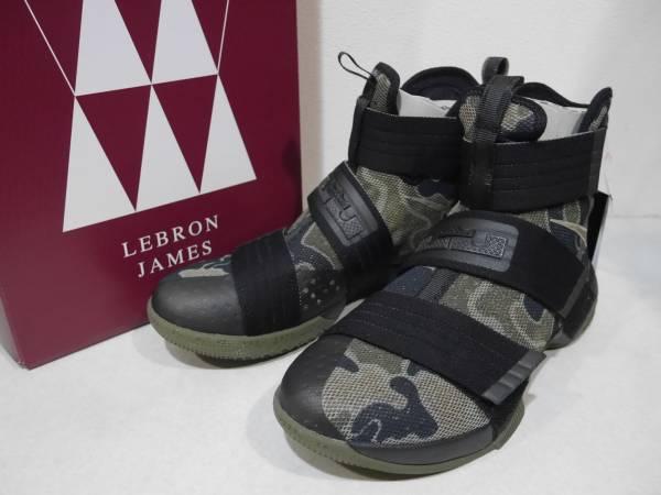 NIKE LEBRON SOLDIER 10 SFG レブロン ソルジャー 10 ブラックxカモ US8.5 未使用 852400-022_画像1