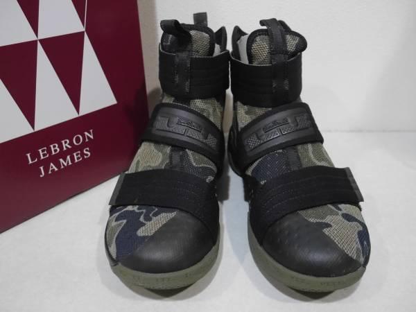 NIKE LEBRON SOLDIER 10 SFG レブロン ソルジャー 10 ブラックxカモ US8.5 未使用 852400-022_画像2