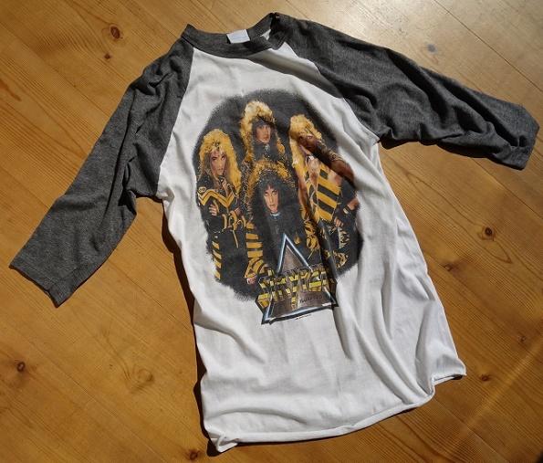 USA製 80's STRYPER ストライパー 1987 ラグラン ツアーTシャツ ビンテージロックTシャツ