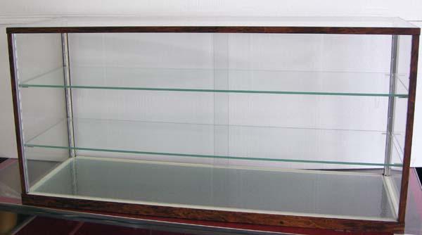 木製風ガラスショーケースW90cm レトロ・アンティーク調 コレクションケースとしても 都内23区送料1,000円_画像2