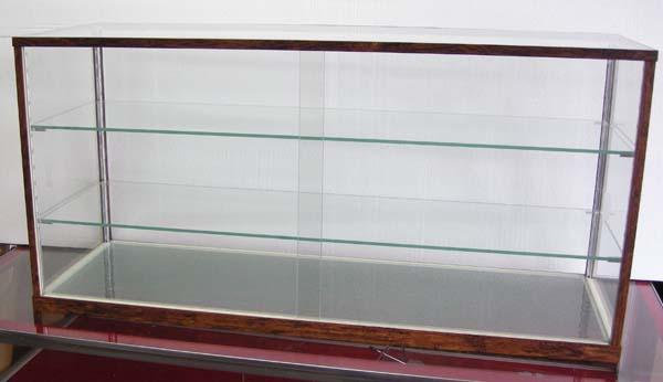 木製風ガラスショーケースW90cm レトロ・アンティーク調 コレクションケースとしても 都内23区送料1,000円_画像1