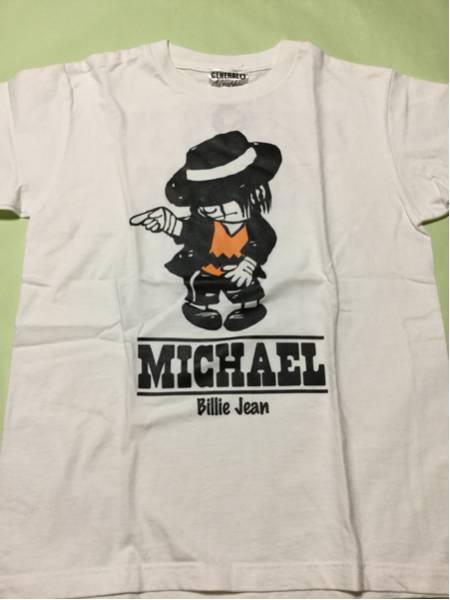 ピン穴あり。スヌーピーパロディTシャツ◆Sサイズ◆白◆マイケルジャクソンMichael Jackson