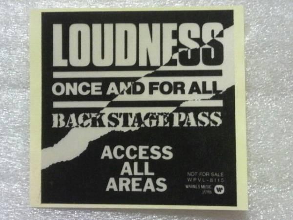 LOUDNESS/非売品ステッカー
