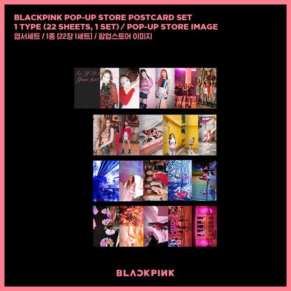 BLACKPINK popup store限定グッズ ポストカード ブルピン 未開封