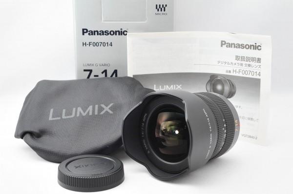 ★新品同様★ パナソニック Panasonic LUMIX G VARIO 7-14mm F4.0 ASPH ★広角ズーム ワンオーナーで使用回数数回のオススメ品!!