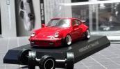 オークション 1/64 改 京商 ポルシェ6 911ターボturbo [930]赤 深リム カスタム品