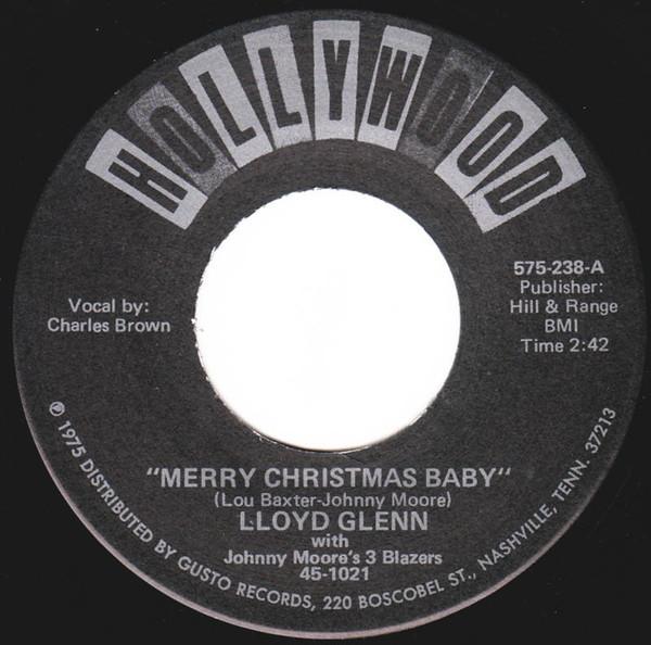 Charles Brown Lloyd Glenn Merry Christmas Baby R&B 45_画像1