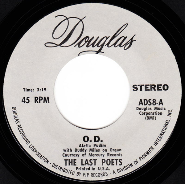 The Last Poets - O.D. Funk Rap Soul 45 Douglas Grey Lbl 試聴_画像1