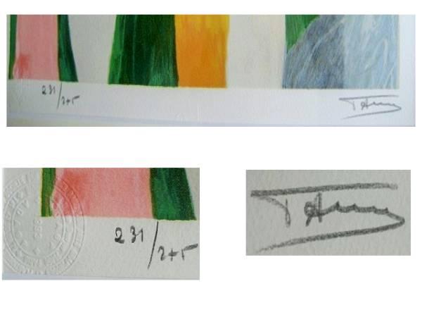 """ローランサン """" ネックレスの女 """"リトグラフ  版上サイン、刷り師サイン"""