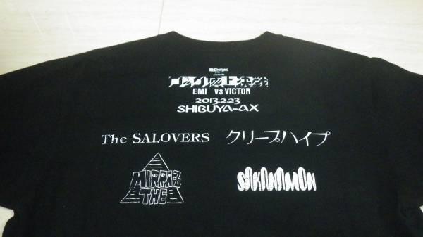 美品 ロック頂上決戦 2013 Tシャツ 黒 M 送料164円 rock fun ロックファン salovers mirraz クリープハイプ sakanamon EMI victor 渋谷AX