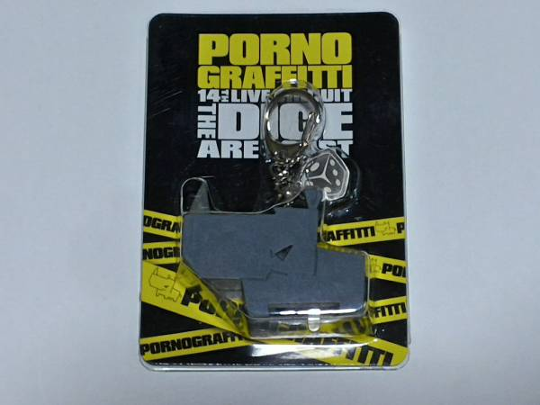 """☆ポルノグラフィティ☆ Porno Graffitti 公式グッズ 14thライヴサーキット """"The dice are cast LEDライトキーホルダー"""