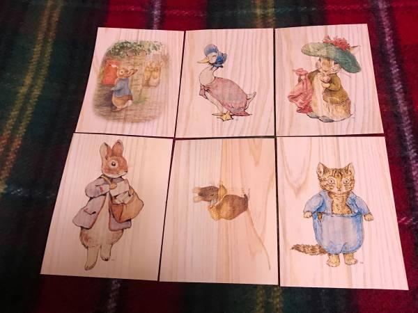 ビアトリクス・ポター 生誕150周年 ピーターラビット展 限定 木製 ポストカード セット グッズの画像