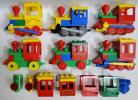g) LEGO レゴ デュプロ 電車パーツ・車輪付き連結パーツなど いろいろ 大量セット [100]D0142